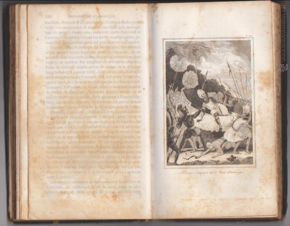 Libros antiguos: Le Robertson de la Jeunesse. Abrégé de L´Histoire D´Amerique. Tours 1851. - Foto 2 - 50619891