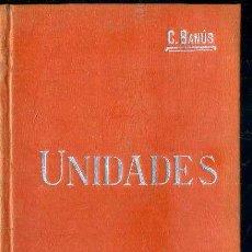 Libros antiguos: MANUALES SOLER Nº 21 : BANÚS - UNIDADES. Lote 50699707