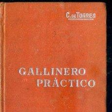 Libros antiguos: MANUALES SOLER Nº 59 : TORRES - GALLINERO PRÁCTICO. Lote 50699762