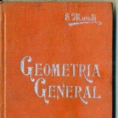 Libros antiguos: MANUALES SOLER Nº 4 : MUNDI . GEOMETRÍA GENERAL. Lote 50700321