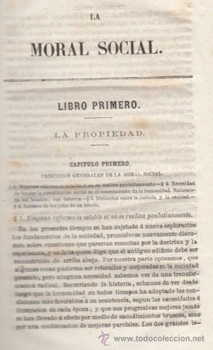 Libros antiguos: LA MORAL SOCIAL O DEBERES DEL ESTADO Y LOS CIUDADANOS ADOLFO GARNIER ED IMPRENTA DE LUIS TASO 1858 - Foto 3 - 50755423
