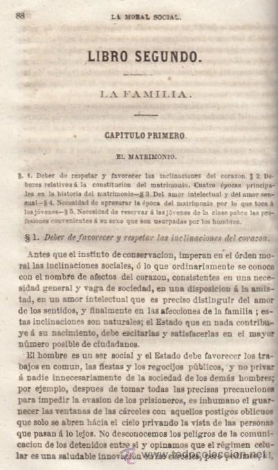 Libros antiguos: LA MORAL SOCIAL O DEBERES DEL ESTADO Y LOS CIUDADANOS ADOLFO GARNIER ED IMPRENTA DE LUIS TASO 1858 - Foto 4 - 50755423