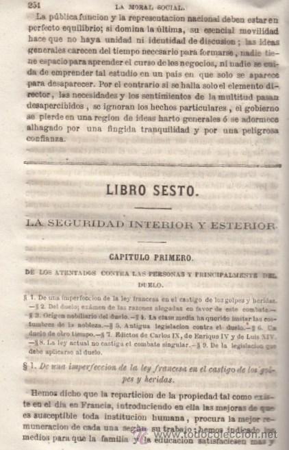 Libros antiguos: LA MORAL SOCIAL O DEBERES DEL ESTADO Y LOS CIUDADANOS ADOLFO GARNIER ED IMPRENTA DE LUIS TASO 1858 - Foto 8 - 50755423