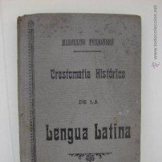 Libros antiguos: CRESTOMATIA HISTORICA DE LA LENGUA LATINA. MARCELINO FERNANDEZ Y FERNANDEZ. OVIEDO 1916. Lote 50764184