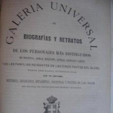 Libros antiguos: GALERIA UNIVERSAL DE BIOGRAFIAS Y RETRATOS DE ITALIA .1867 .FOLIO.56 PG + LITOGRAFIAS. Lote 50830387