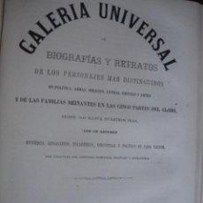 Libros antiguos: GALERIA UNIVERSAL DE BIOGRAFIAS Y RETRATOS DE BELGICA HOLANDA .1868 .FOLIO. 32 PG + LITOGRAFIAS. Lote 50830412