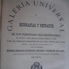 Libros antiguos: GALERIA UNIVERSAL DE BIOGRAFIAS Y RETRATOS DE SUIZA .1867 .FOLIO. 16 PG. Lote 50830429