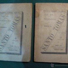 Libros antiguos: 2 TOMOS I,II. TEODICEA DE SANTO TOMAS, CRÍTICA DE LA RAZÓN PRÁCTICA. 1891.. Lote 50920645