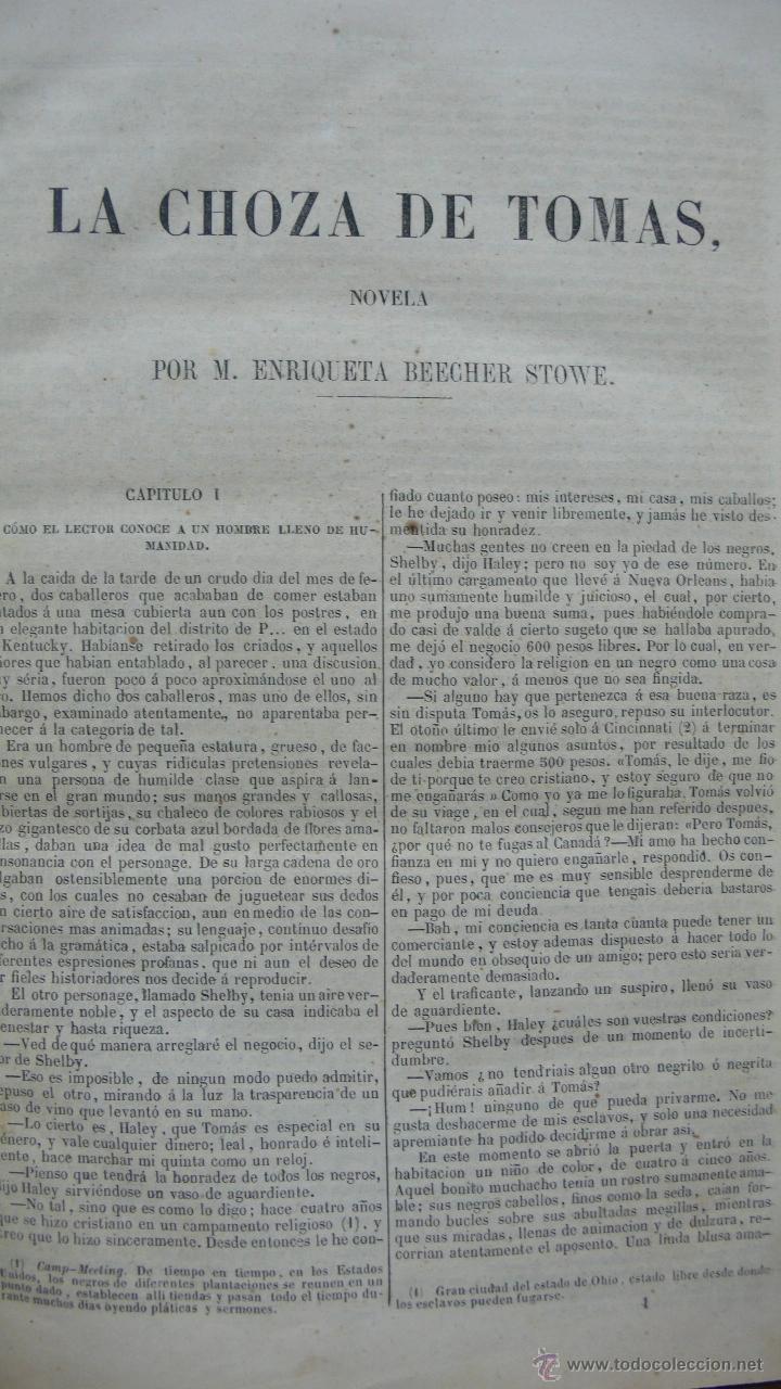 Libros antiguos: LA CHOZA DE TOMAS. M.E. BEECHER-STOWE. 1853. - Foto 2 - 51006487