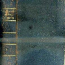 Libros antiguos: RODRIGUEZ ARISMENDI : INSURRECCIÓN CARLISTA DE 1872 TOMO I (MADRID, 1872). Lote 51023154