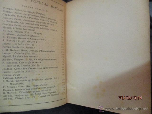 Libros antiguos: CRÓNICA. JAUME I. VOL. I. COL-LECIÓ POPULAR BARCINO, BARCELONA 1926 - Foto 2 - 51068796