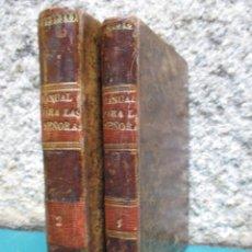 Libros antiguos: MANUAL PARA LAS SEÑORAS O ARTE - CELNART, MADAME (SEUDÓNIMO) - BARCELONA IMP DE SAURI 1830 DOS TOMOS. Lote 51113177