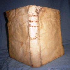 Libros antiguos: DOCTRINAS PRACTICAS - AÑO 1739 - PEDRO DE CALATAYUD - PERGAMINO IN-FOLIO.. Lote 51128409