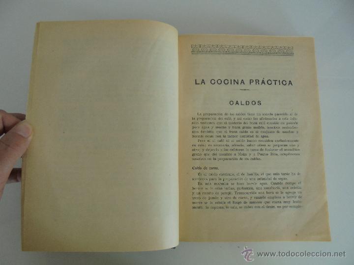 Libros antiguos: LA COCINA PRACTICA. MANUEL MARIA PUGA Y PARGA. PICADILLO. IMPRENTA ROEL. POSIBLEMENTE 1916. - Foto 12 - 51143823