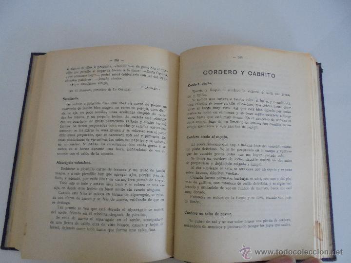 Libros antiguos: LA COCINA PRACTICA. MANUEL MARIA PUGA Y PARGA. PICADILLO. IMPRENTA ROEL. POSIBLEMENTE 1916. - Foto 16 - 51143823