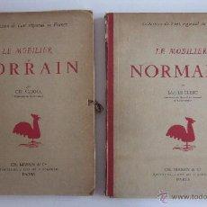 Libros antiguos: LE MOBILIER NORMAND Y LE MOBILIER LORRAIN - ANTIGUAS LAMINAS DE MUEBLES. Lote 51157506
