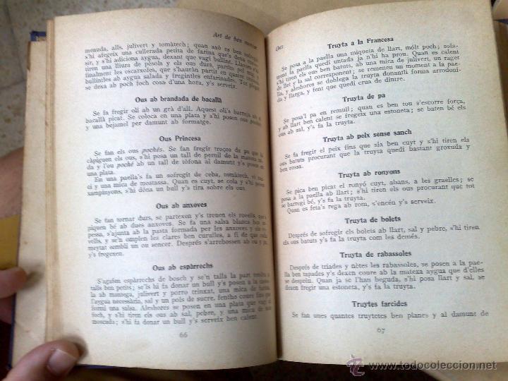 Libros antiguos: ART DE BEN MENJAR, LLIBRE CATALÀ DE CUYNA - TAPA DURA 1930 - Foto 4 - 51185410