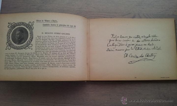 Libros antiguos: ALBUM DE ESPAÑOLES ILUSTRES DE PRINCIPIOS DEL SIGLO XX - Foto 3 - 51188407