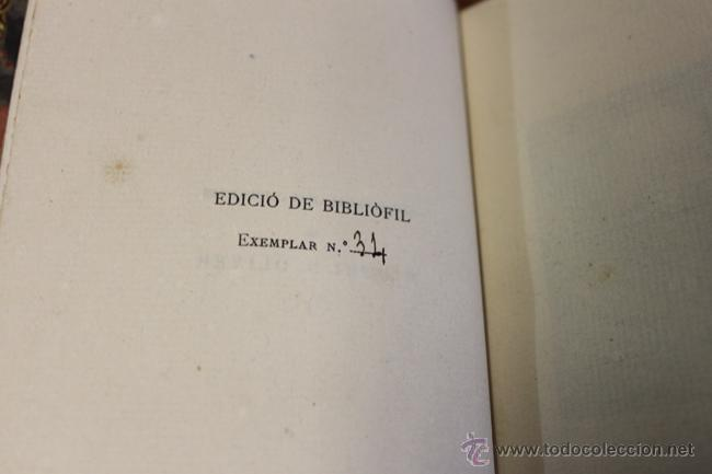 Libros antiguos: OBRES CATALANES DE MIQUEL S. OLIVER. c. 1920. BONICA ENQ. DE BRUGALLA. ED. BIBLIOFILIA PAPER FIL. - Foto 3 - 51243801
