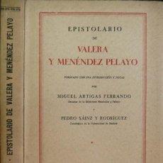 Libros antiguos: VALERA,JUAN Y MENENDEZ PELAYO, MARCELINO. EPISTOLARIO. 1930.. Lote 51283981
