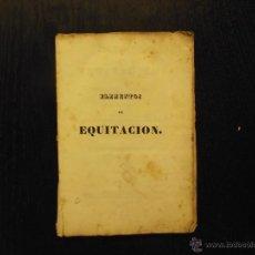 Libros antiguos: ELEMENTOS DE EQUITACION O VERDADEROS PRINCIPIOS DE LA ESCUELA DE A CABALLO, JOAQUIN BLANCA DE RUIZ. Lote 51370532