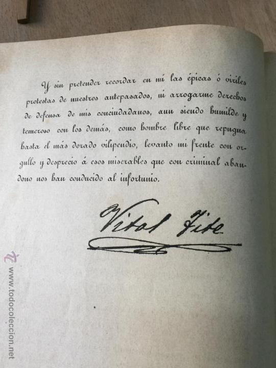 Libros antiguos: Las desdichas de la patria - Vital Fite 1899 - Foto 6 - 51393343