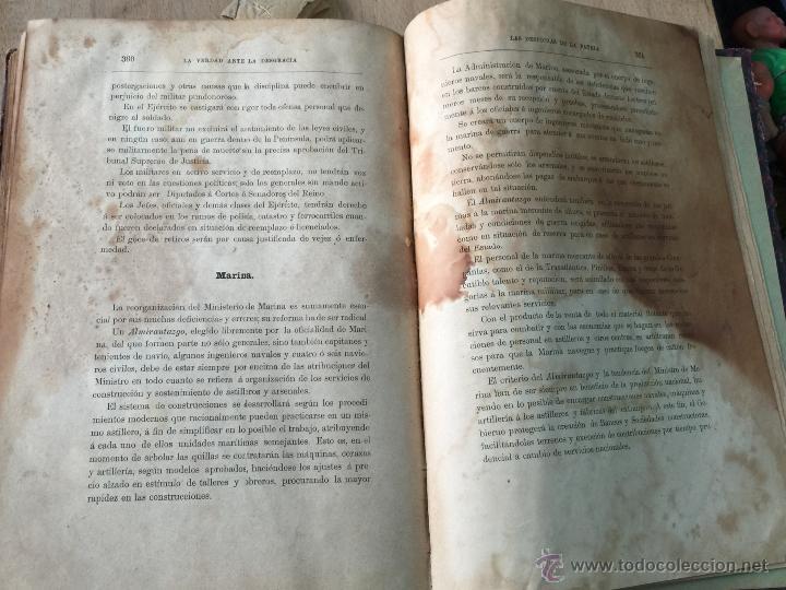 Libros antiguos: Las desdichas de la patria - Vital Fite 1899 - Foto 10 - 51393343
