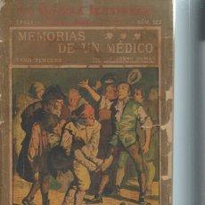 Libros antiguos: LA NOVELA ILUSTRADA, MEMORIAS DE UN MÉDICO, ALEJANDRO DUMAS, TM III, II ÉPOCA Nº 122. Lote 51431743