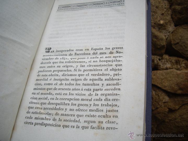 Libros antiguos: Luis Ferrer (Adriano): SUCESOS de BARCELONA desde nov. 1842 a febr.1943. IMPRENTA A.GASPAR 1843 RARO - Foto 4 - 51538143