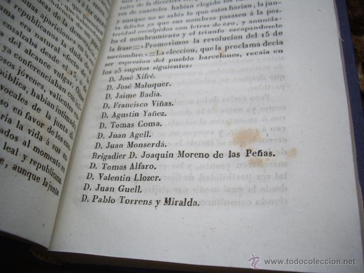 Libros antiguos: Luis Ferrer (Adriano): SUCESOS de BARCELONA desde nov. 1842 a febr.1943. IMPRENTA A.GASPAR 1843 RARO - Foto 5 - 51538143