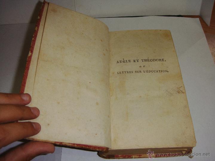 Libros antiguos: Adele et Theodore ou Lettres sur L'education. - Foto 2 - 51548107