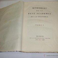 Libros antiguos: MEMORIAS DE LA REAL ACADEMIA DE LA HISTORIA. TOMO I. 1796.. Lote 51559482