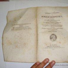 Libros antiguos: OUVRES COMPLETES DE BOILEAU DESPRÉAUX. TOMO II. 1925. Lote 51565662
