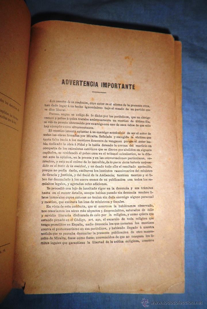 Libros antiguos: EL SACRAMENTO ESPUREO - AÑO 1888 - CONSTANCIO MIRALTA - ANTICLERICAL. - Foto 3 - 51601112