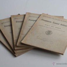 Libros antiguos: PRESUPUESTO GENERAL ORDINARIO DE LA DIPUTACIÓN PROVINCIAL DE BARCELONA 1914 - 1918. Lote 51668901