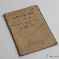 Libros antiguos: LA EPISTOLA DE LOS PISONES POR QUINTO HORACIO FLACO 1898. Lote 51668999