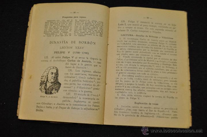 Libros antiguos: HISTORIA DE ESPAÑA - PRIMER GRADO - EDICIONES BRUNO - - Foto 2 - 51693069