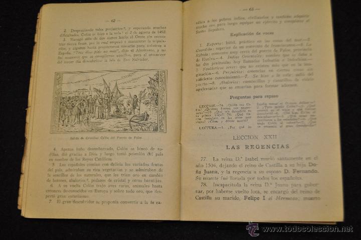 Libros antiguos: HISTORIA DE ESPAÑA - PRIMER GRADO - EDICIONES BRUNO - - Foto 4 - 51693069