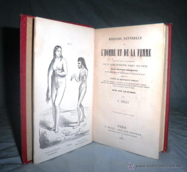 MONSTRUOSIDADES HUMANAS - AÑO 1863 - A.DEBAY - IMPRESIONANTES GRABADOS. (Libros Antiguos, Raros y Curiosos - Ciencias, Manuales y Oficios - Otros)