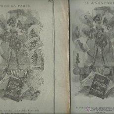 Libros antiguos: JULIO VERNE - CLAUDIO BOMBARNAC DE 2 TOMOS COMPLETOS EDIT.SAENZ DE JUBERA. Lote 51791952