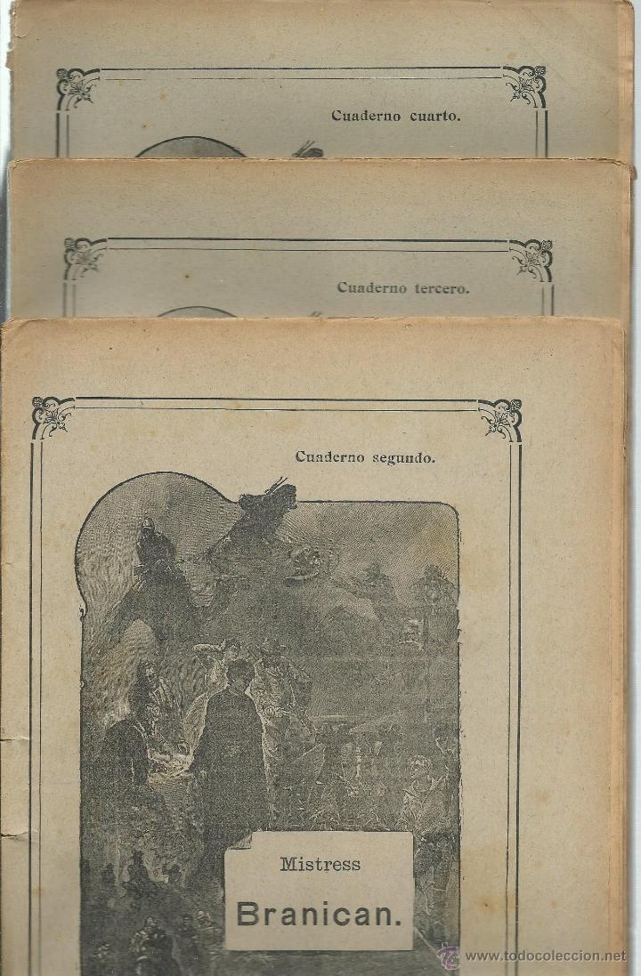 JULIO VERNE - MISTRESS BRANICAN- CUADERNOS 2º - 3º Y 4º - EDIT.SAENZ DE JUBERA (Libros Antiguos, Raros y Curiosos - Literatura - Otros)