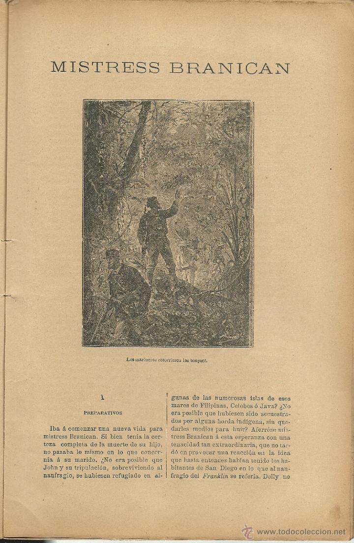 Libros antiguos: JULIO VERNE - MISTRESS BRANICAN- CUADERNOS 2º - 3º y 4º - EDIT.SAENZ DE JUBERA - Foto 3 - 51814155