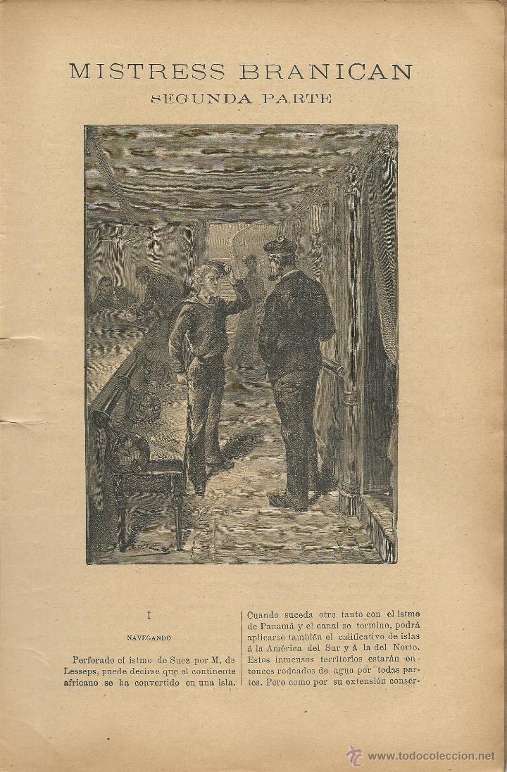Libros antiguos: JULIO VERNE - MISTRESS BRANICAN- CUADERNOS 2º - 3º y 4º - EDIT.SAENZ DE JUBERA - Foto 5 - 51814155