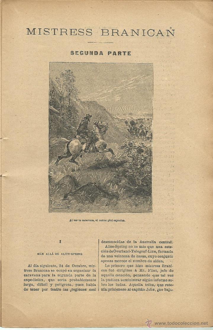 Libros antiguos: JULIO VERNE - MISTRESS BRANICAN- CUADERNOS 2º - 3º y 4º - EDIT.SAENZ DE JUBERA - Foto 7 - 51814155
