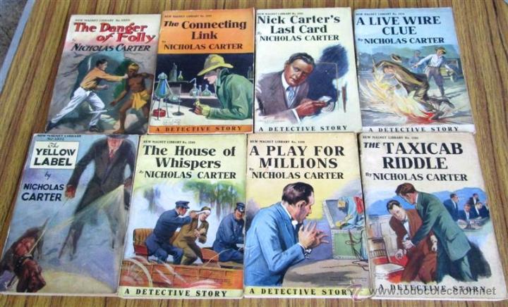 8 LIBROS COLECCIÓN NEW MAGNET LIBRARY POR NICHOLAS CARTER 1909 A 1915 (Libros Antiguos, Raros y Curiosos - Otros Idiomas)