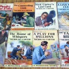 Libros antiguos: 8 LIBROS COLECCIÓN NEW MAGNET LIBRARY POR NICHOLAS CARTER 1909 A 1915. Lote 52119257