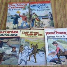 Libros antiguos: 5 LIBROS COLECCIÓN ALGER SERIES THE ISLAND CASTAWAY POR ROY FRANKLIN ETC. 1902 A 1911. Lote 52124658