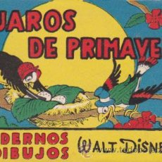 Libros antiguos: CUADERNOS DE DIBUJOS WALT DISNEY PAJAROS DE PRIMAVERA . Lote 52259493