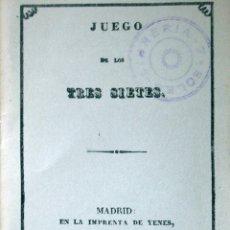 Libros antiguos: JUEGO DE LOS TRES SIETES (FACSÍMIL). Lote 52320735