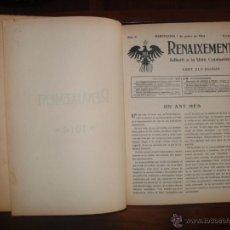 Libros antiguos: REVISTA COMPLETA DEL AÑO 1914 DEL SEMANARIO RENAIXEMENT-UNIÓ CATALANISTA. Lote 52326590